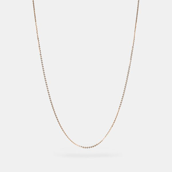 Collectible Chain Necklace, ROSE GOLD, hi-res