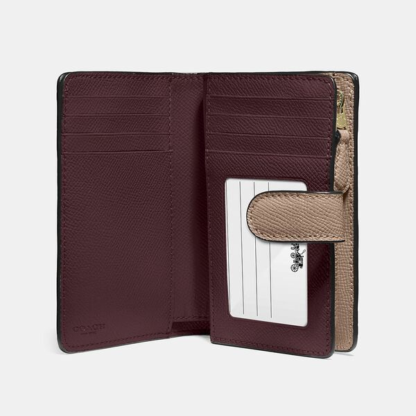 Medium Corner Zip Wallet, IM/TAUPE, hi-res