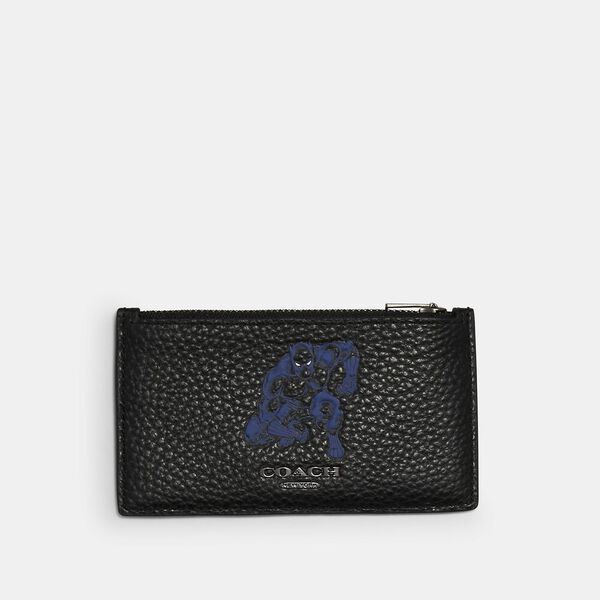 Coach x Marvel Zip Card Case With Signature Canvas Detail And Black Panther