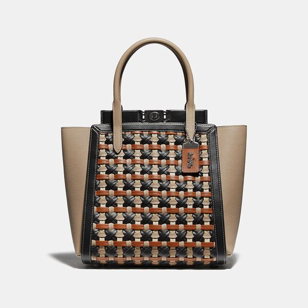 Troupe Tote With Weaving