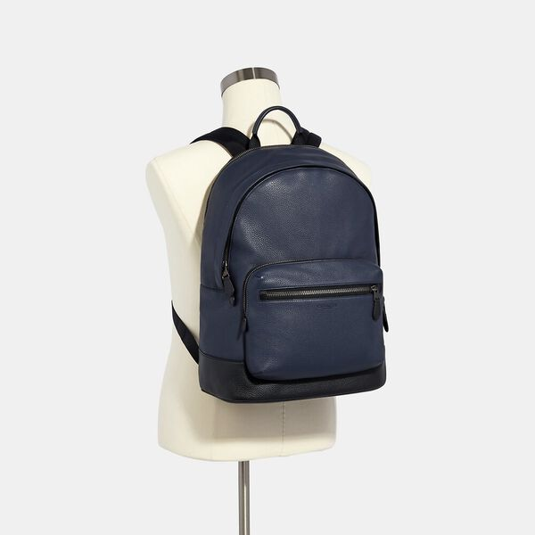West Backpack, QB/MIDNIGHT NAVY, hi-res