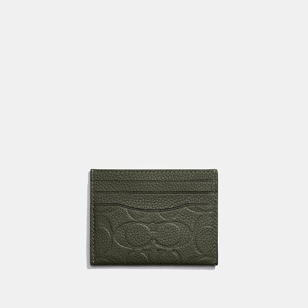 Card Case In Signature Leather, DARK SHAMROCK, hi-res