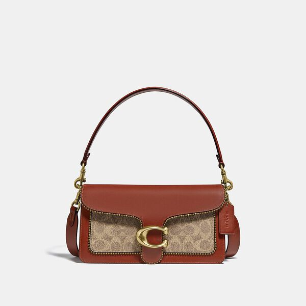 Tabby Shoulder Bag 26 In Signature Canvas With Beadchain, B4/TAN RUST, hi-res