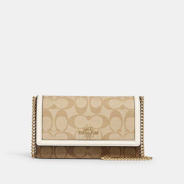 Flap Belt Bag In Signature Canvas, IM/KHAKI/ LIGHT KHAKI/ CHALK, hi-res
