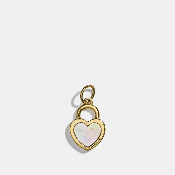 Collectible Pearl Heart Charm, GOLD/MULTICOLOR, hi-res