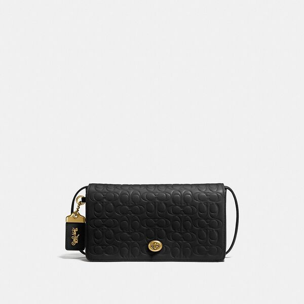 Dinky In Signature Leather, OL/BLACK, hi-res