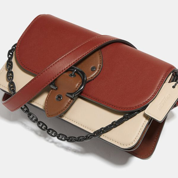 Beat Crossbody Clutch In Colorblock, V5/RED SAND IVORY MULTI, hi-res