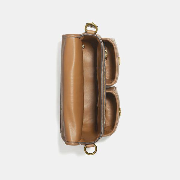 Map Bag With Varsity Stripe, OL/PECAN, hi-res