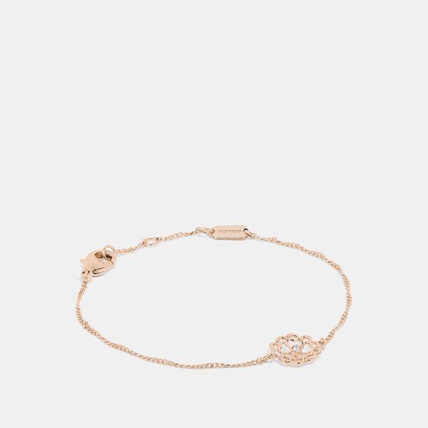 Tea Rose Cutout Bracelet, ROSE GOLD, hi-res