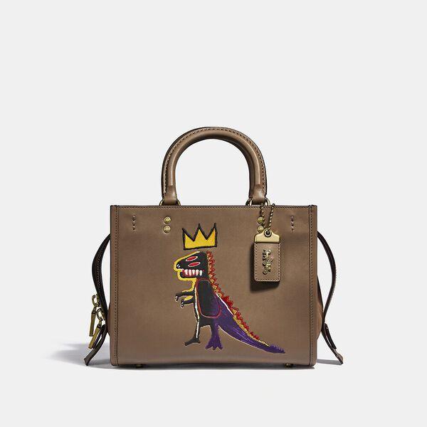 Coach X Basquiat Pez Dispenser With Suede Gusset Rogue Bag 25