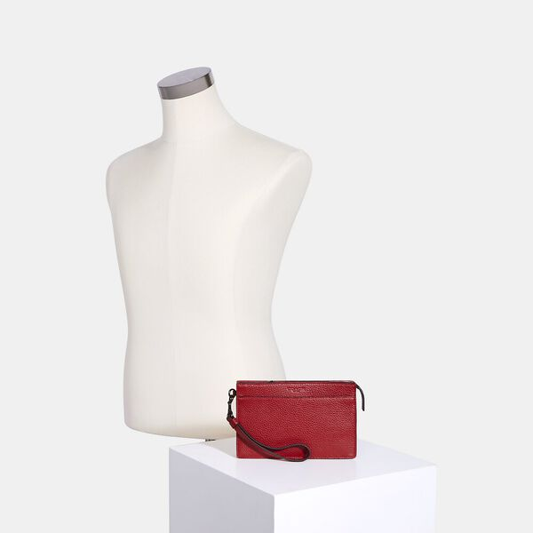 Structured Phone Pouch, QB/1941 RED, hi-res