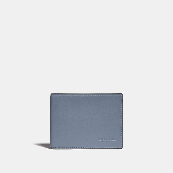 Slim Billfold Wallet In Colorblock, BLUE QUARTZ/MIDNIGHT, hi-res