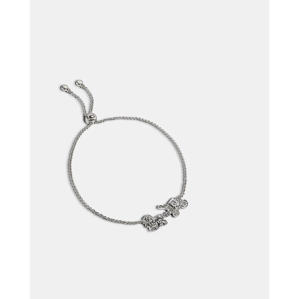 Horse And Carriage Slider Bracelet, SILVER, hi-res