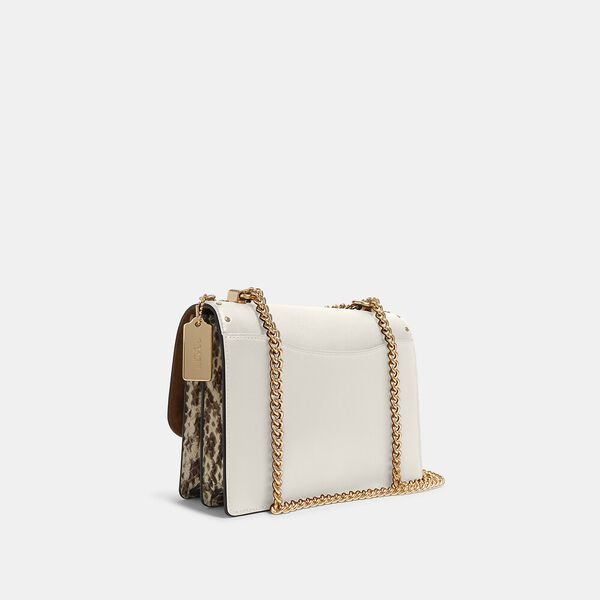 Klare Crossbody In Signature Canvas With Rivets, IM/LIGHT KHAKI MULTI, hi-res