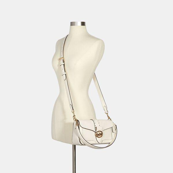 Georgie Shoulder Bag With Rivets, IM/CHALK, hi-res