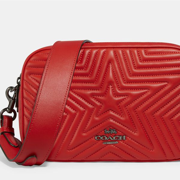 Jes Crossbody With Star Quilting, QB/MIAMI RED, hi-res