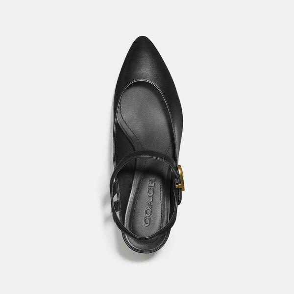 Ankle Strap Heel, BLACK, hi-res