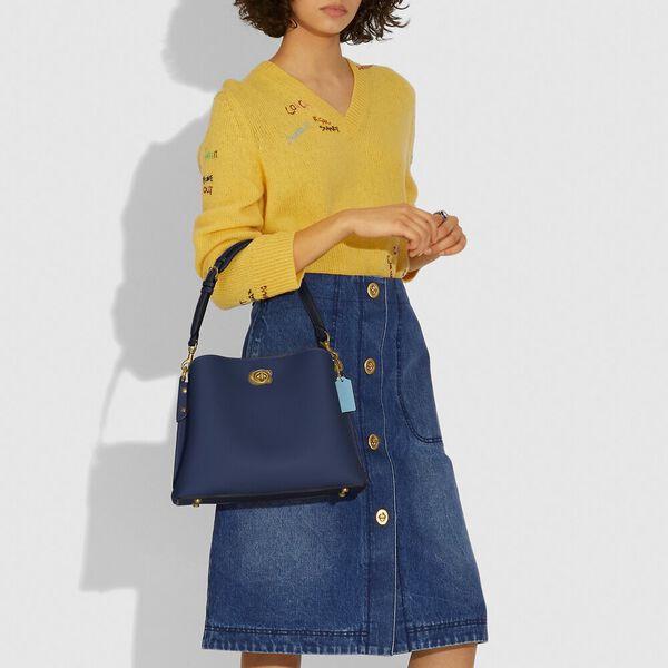 Willow Shoulder Bag In Colorblock, B4/MIDNIGHT NAVY MULTI, hi-res