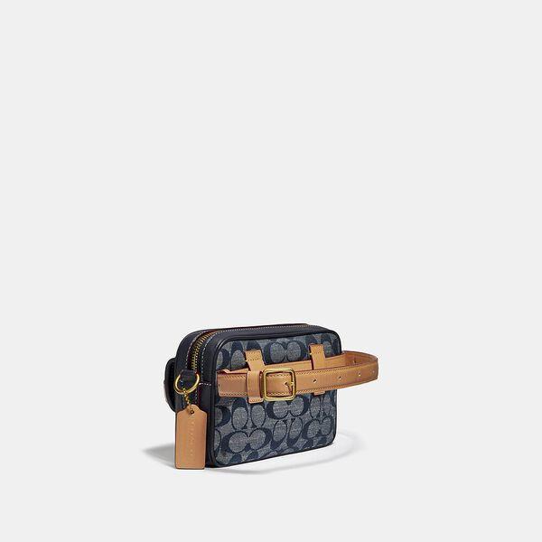 Convertible Waist Pack In Signature Chambray, B4/CHAMBRAY MIDNIGHT NAVY MLTI, hi-res