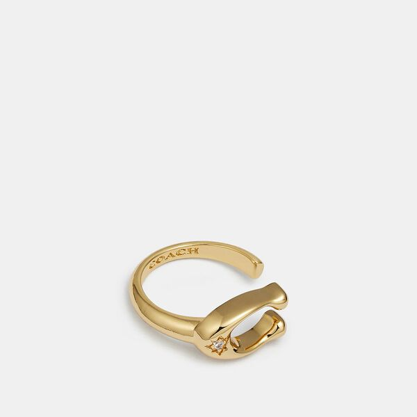 Signature Ring, GOLD, hi-res
