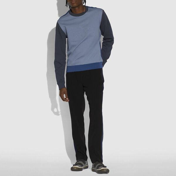 Pop Horse And Carriage Sweatshirt, Slate/Navy, hi-res