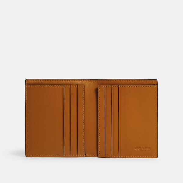 North/South Slim Bill Wallet In Colorblock With Coach Patch, QB/MIDNIGHT MULTI, hi-res