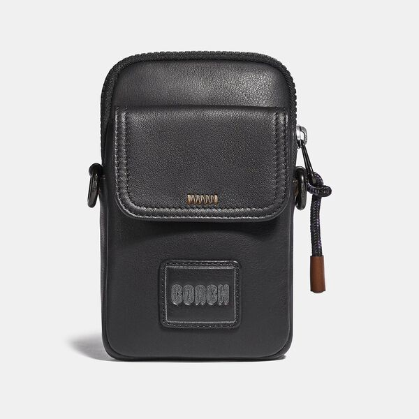 Pacer Convertible Pouch With Coach Patch, BLACK, hi-res