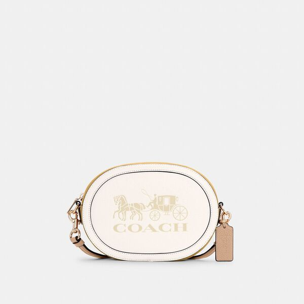 Camera Bag In Colorblock With Horse And Carriage