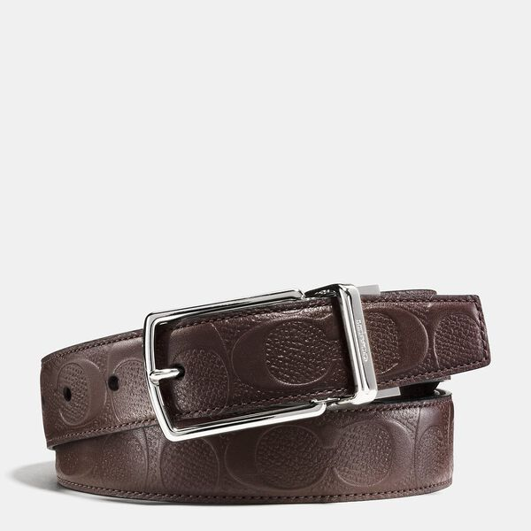 Harness Buckle Cut-To-Size Reversible Belt, 32mm, MAHOGANY, hi-res