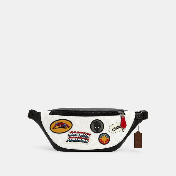 Coach x Marvel Warren Belt Bag In Signature Canvas With Patches