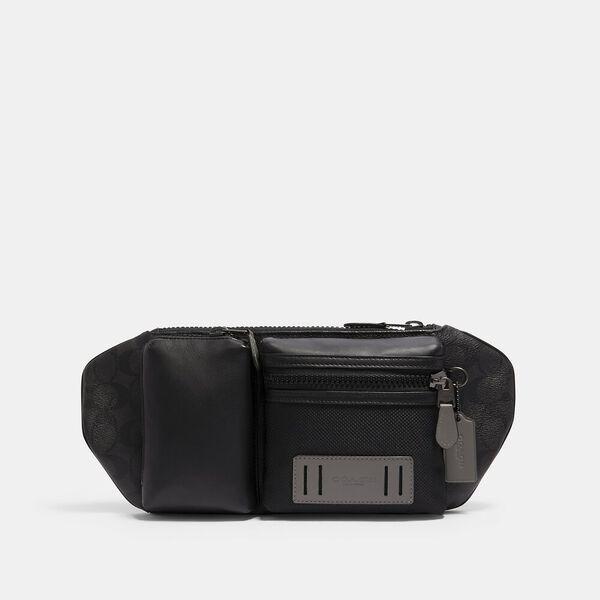 Rider Belt Bag In Signature Canvas, QB/BLACK GREY MULTI, hi-res