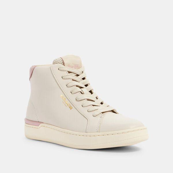 Clip High Top Sneaker, CHALK/BLOSSOM, hi-res
