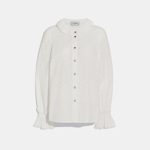 Long Sleeve Broderie Anglaise Top