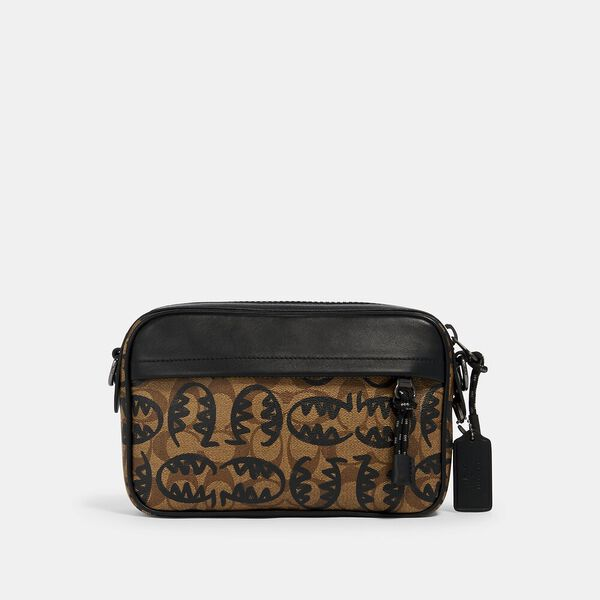 Graham Crossbody In Signature Canvas With Rexy By Guang Yu, QB/KHAKI BLACK, hi-res