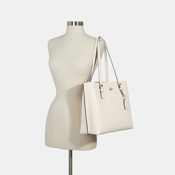 Mollie Tote, IM/CHALK LIGHT SADDLE, hi-res