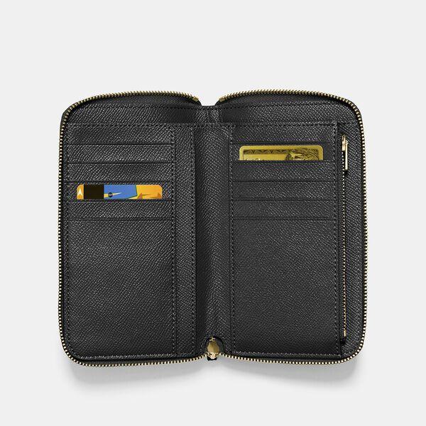 Medium Zip Around Wallet, LI/BLACK, hi-res