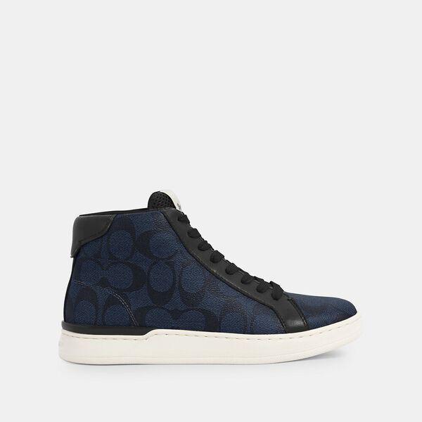Clip High Top Sneaker, MIDNIGHT NAVY BLACK, hi-res