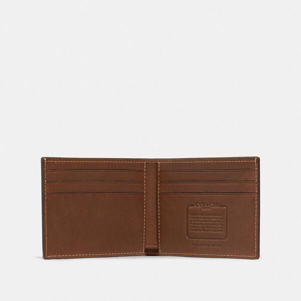 Slim Billfold Wallet, saddle, hi-res