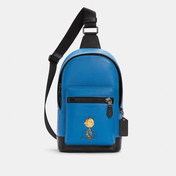 Coach X Peanuts West Pack With Charlie Brown
