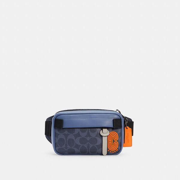 Mini Edge Belt Bag In Colorblock Signature Canvas