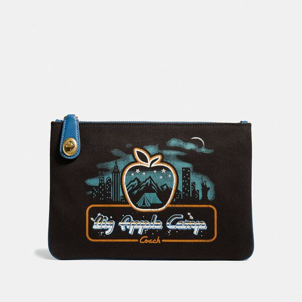 Turnlock Pouch 26 With Skyline Big Apple Camp Print, B4/BLACK, hi-res