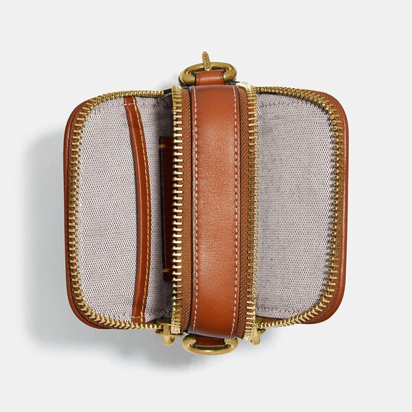 Rogue Crossbody 12 In Signature Textile Jacquard With Mushroom Motif Embroidery, COCOA, hi-res