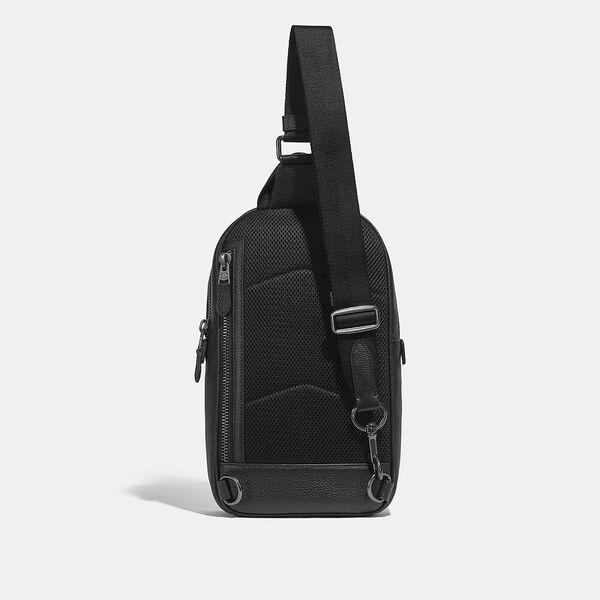 Metropolitan Soft Pack In Signature Leather, QB/BLACK, hi-res
