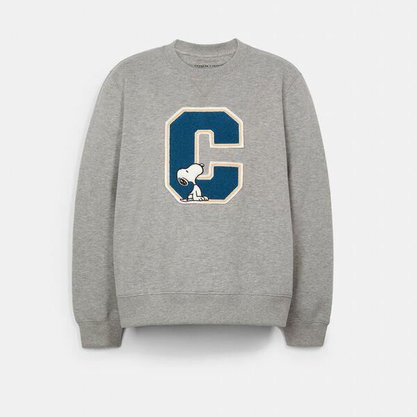 Coach X Peanuts Snoopy Sweatshirt, GREY, hi-res