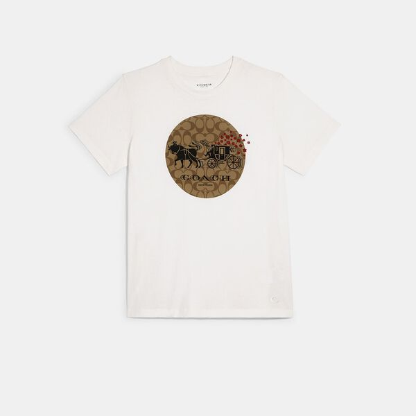 Lunar New Year Ox And Carriage Signature T-Shirt, WHITE, hi-res