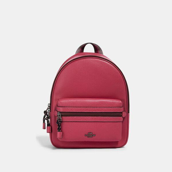 Vale Medium Charlie Backpack, QB/DARK PINK, hi-res