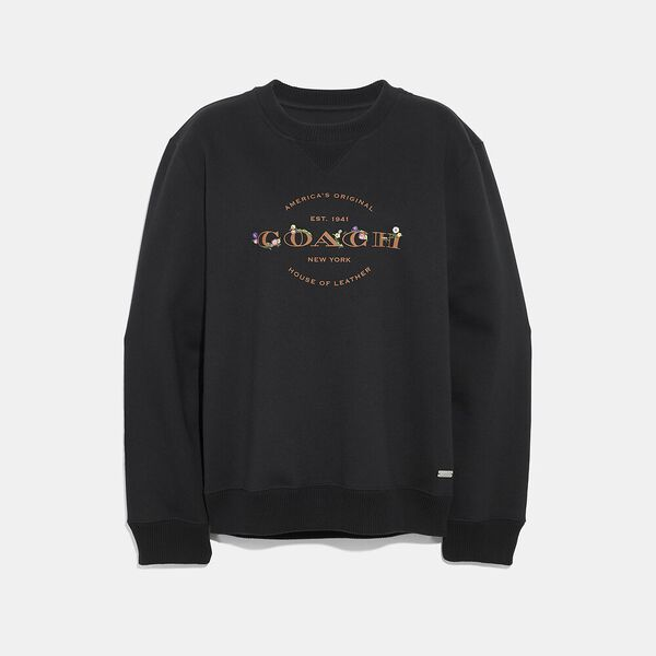 Coach Sweatshirt, BLACK, hi-res