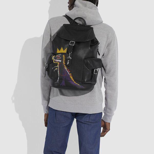Coach X Jean-Michel Basquiat Wells Backpack In Pez Dispenser, 0I/BLACK, hi-res