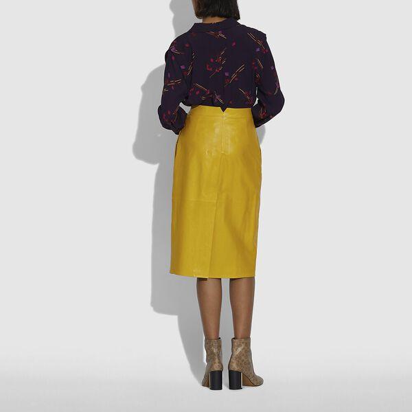 Crepe Long Sleeve Blouse, PURPLE/FUSCHIA, hi-res