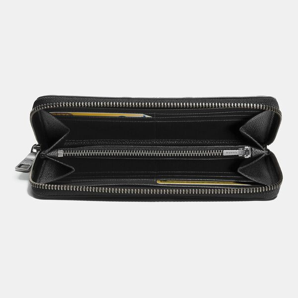 Accordion Wallet In Signature Leather, BLACK, hi-res